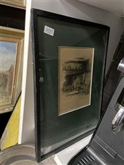 Sale 8878 - Lot 2097 - 2 Works:Marjorie C Bates Ingle Nook: Anne Hathaways Cottage; Marie Corellis House, Stratford decorative prints, each 37 x 27cm (fra