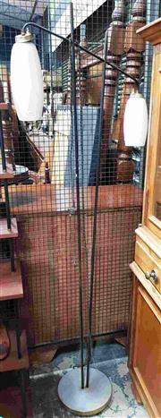 Sale 8930 - Lot 1016 - Vintage Metal Twin Shade Floor Lamp
