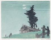 Sale 9047 - Lot 563 - Ethleen Palmer (1906 - 1958) - The Homestead, 1937 17 x 22 cm (frame: 53 x 42 x 2 cm)
