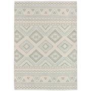 Sale 9061C - Lot 18 - Indian Knotted Aztec Rug, 160x230cm, Handspun Wool