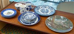 Sale 9164H - Lot 76 - A shelf lot of ceramics including Royal Doulton, Spode, Limoges