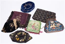Sale 9190E - Lot 67 - A collection of fabric wares including hat