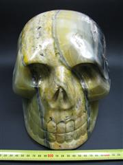 Sale 8331A - Lot 502 - Bumble Bee Jasper Carved Skull, Java