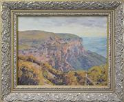 Sale 8358 - Lot 501 - Alan Grieve (1910 - 1970) - Blue Mountains Scene, 1944 29 x 36.5cm
