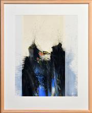 Sale 8408 - Lot 513 - Thomas Gleghorn (1925 - ) - Rainbow Birds and Water Path, Yellow Waters, Kakadu, NT, 1987 72.5 x 54cm