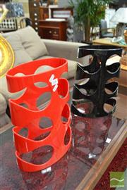 Sale 8480 - Lot 1187 - Pair of Umbra Wine racks