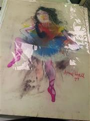 Sale 8650 - Lot 2035 - Anne Hall (1945 - ) - Untitled, 1977 (Ballerina) 99.5 x 70.5cm (sheet size)