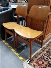 Sale 8680 - Lot 1049 - Pair of Vinyl Upholstered Dining Chairs