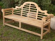 Sale 8795A - Lot 18 - A teak Lutchens bench, L 194cm