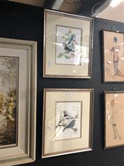 Sale 8811 - Lot 2065 - 2 Joan Lewis Works: Finch, Watercolours, both 19.5x14.5cm