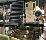 Sale 8834 - Lot 1057 - Eames Style Aluminium Lounge Chair with Footstool