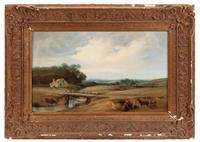 Sale 8934H - Lot 82 - A. H. Vickers, Early Australian Landscape, oil on canvas, 21cm x 37cm  Provenance: Leonard Joel, Melbourne, November 1978; Thirty Vi...