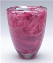 Sale 9090 - Lot 61 - Kosta Boda Pink Art Glass Vase, h18cm