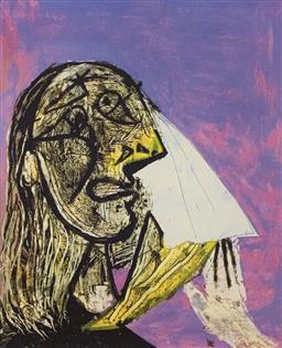 Sale 9108A - Lot 5059 - Pablo Picasso (1881 - 1973) - Weeping Woman 43 x 30 cm (sheet)