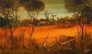 Sale 8504 - Lot 554 - Kevin Charles (Pro) Hart (1928 - 2006) - Farmyard 45 x 70cm