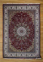 Sale 8566C - Lot 20 - Indo Persian Nain Silk Inlaid 166cm x 243cm