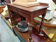 Sale 8570 - Lot 1068 - Timber Single Drawer Hall Table