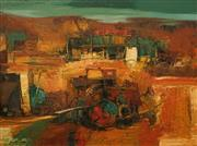 Sale 8606 - Lot 518 - Reinis Zusters (1919 - 1999) - Assemblage in Megalong Valley 75 x 100cm