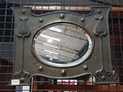 Sale 8705 - Lot 1060 - Pewter Art Nouveau Mirror