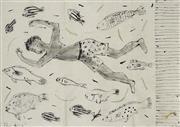 Sale 8738 - Lot 533 - Kerrie Lester (1953 - 2016) - The Dive 90 x 121cm
