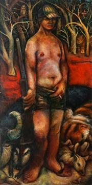 Sale 8892 - Lot 550 - Bryan Bully - The Hunter 131 x 65.5 cm