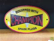 Sale 8455 - Lot 1013 - Cast Iron Champion Advert