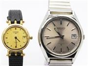 Sale 8820 - Lot 547 - GENTS SEIKO AUTOMATIC AND LADYS LONGINES WRISTWATCHES; Seiko ref. 6308-8030 in stainless steel with sunburst dial center seconds,...