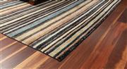 Sale 8904H - Lot 57 - An oversized woollen carpet in mute stripe design, 275cm x 375cm