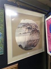Sale 8895 - Lot 2055 - Artist Unknown (Chinese School) - Coastal Landscape, watercolour, 82 x 82cm (frame), signed lower right