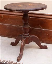 Sale 8934H - Lot 76 - A cedar tripod table, Height 48cm x Width 42cm