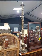 Sale 8979 - Lot 1050 - Pierced Brass Floor Lamp (H:147cm)