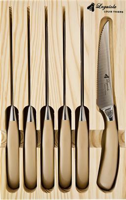 Sale 9126K - Lot 553 - Laguiole by Louis Thiers Mondial 6-Piece Steak Knife Set - rose gold finish