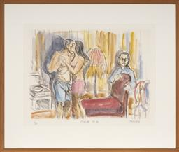Sale 9091 - Lot 2077 - Salvatore Zofrea (1946 - ) - Psalm 16 50.5 x 65.5 cm (frame: 76 x 90 x 2 cm)