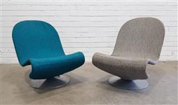 Sale 9151 - Lot 1089 - Pair of Verner Panton 1-2-3 chairs for fritz Hansen. No makers label. (h73 x d61cm)