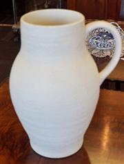 Sale 8320 - Lot 820 - 1930s Large Crown Devon white glazed pottery jug
