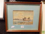 Sale 8407T - Lot 2068 - James R Jackson Watercolour Botany Bay -