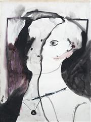 Sale 8410A - Lot 5048 - Anne Hall (1945 - ) - Untitled, 1966 (Two-faced Model) 76.5 x 56cm (sheet size)