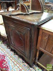 Sale 8416 - Lot 1017 - 19th Century French Small Oak Cabinet, with quatrefoil panel door