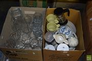 Sale 8509 - Lot 2226 - 2 Boxes of Ceramics & Glassware incl Independence Stoneware