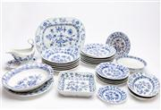 Sale 8590A - Lot 61 - A quantity of assorted mainly Meissen onion pattern blue and white china, together with 5 assorted similar pieces, largest 37cm