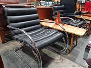 Sale 8723 - Lot 1089 - Pair of Mies Van Der Rohe Lounge Chairs