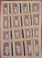 Sale 8718 - Lot 505 - Dorothy Djukulul (1942 - ) - Fruit Bats. Flying Foxes natural pigments on paper