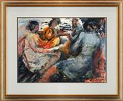 Sale 8771 - Lot 2023 - Val Landa (1940 - ) - Family Outing 55 x 75cm (frame: 87.5 x 160cm)