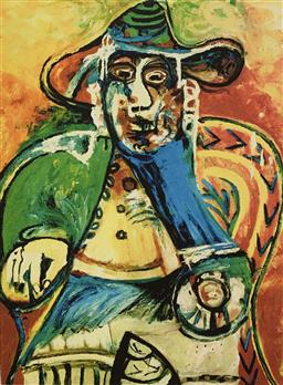 Sale 9108A - Lot 5020 - Pablo Picasso (1881 - 1973) - Seated Old Man 43 x 30 cm (sheet)