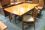 Sale 8326 - Lot 1053 - G-Plan Fresco Table and Eight Dining Chairs
