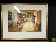Sale 8491 - Lot 2088 - Jim Keller - Castle Library Loire, watercolour, frame size: 65 x 82.5cm, signed lower right