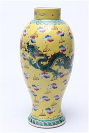 Sale 8732W - Lot 42 - Yellow ground Dragon vase,