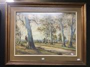 Sale 8726 - Lot 2037 - Arnold Jarvis - Country Track, watercolour (AF), 64 x 83cm, signed lower left