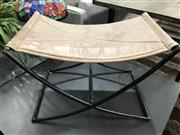 Sale 8787 - Lot 1079 - Metal Frame Stool With Leather Top