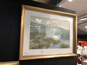 Sale 8841 - Lot 2076 - Cohen, Upper Middle Harbour, mixed media, 25.5x38cm